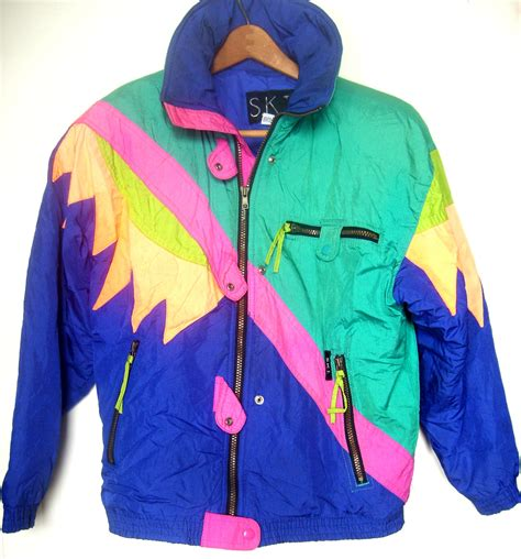 80s ski wear women s vintage 80 s colorblock ski jacket size medium