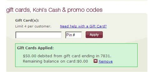 Kohls Gift Card Number - kohls gift card number and pin mega deals and coupons