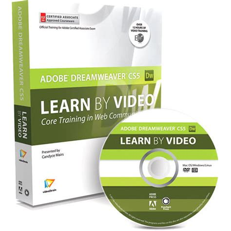dreamweaver video tutorial in urdu pearson education book dvd rom learn adobe 0321719816 b h