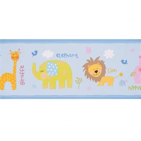 bordure kinderzimmer safari bord 252 re babyzimmer safari in hellblau bei oli niki kaufen
