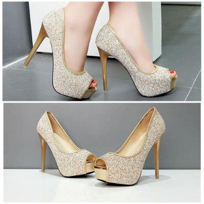 Sepatu High 12cm jual shh18883 gold high heels 12cm grosirimpor