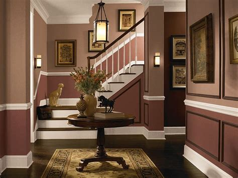 Two Tone Dining Room Wall Colors - these earth tone colors add a sense of warmth and