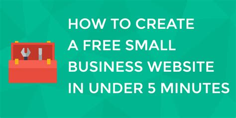 how to make a website can you really create a free small business website in