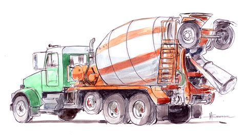 Machine Truck Construction Limited construction machine sketch rockets and rabbits