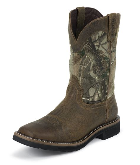 realtree boots camo work boots by justin boots find products realtree