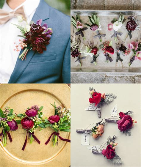 7 Must See Buttonhole Ideas for Groomsmen   The Koch Blog