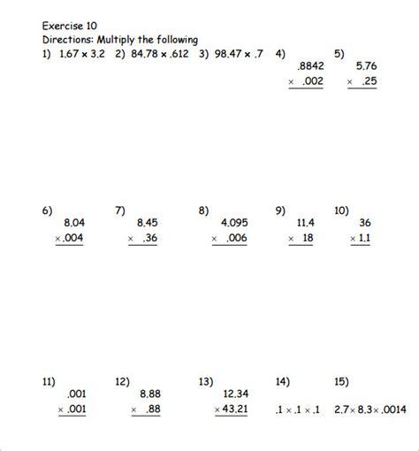 printable worksheets multiplying decimals free worksheets 187 10 x table worksheet free math