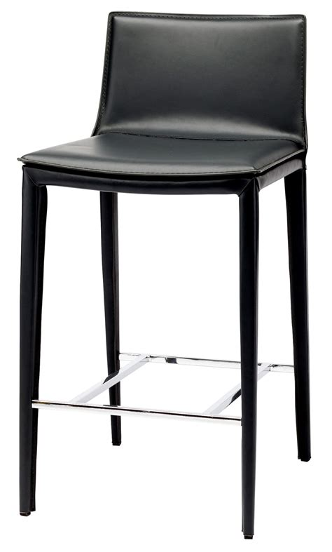 Black Counter Stools palma black leather counter stool hgnd112 nuevo