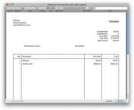 simple invoice template for mac express invoice mac