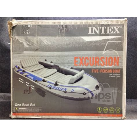 five person boat intex 68325ep excursion 5 five person inflatable boat 12ft
