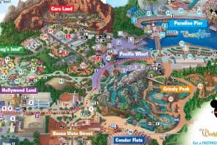 map of california adventure printable disney world maps 2015 new calendar template site