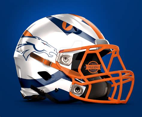 design helmet football denver broncos football helmet design by davisefx on