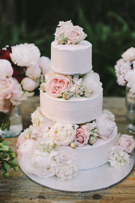 Wedding Cake Simple Flowers by Wedding Cakes Cakes And Cake Ideas On