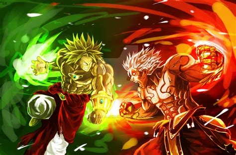 Asura Vs Broly Clash Of Gods By Primal Lord On Deviantart