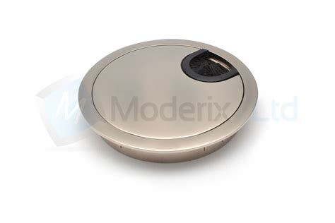 60mm 80mm computer metal grommet for desk table cable tidy