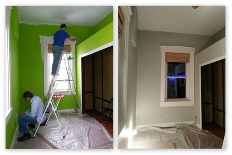 lime green to valspar bonsai quite the transformation remodel office green