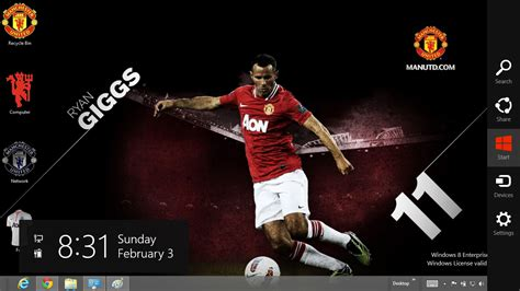 themes facebook manchester united manchester united 2013 theme for windows 8 ouo themes
