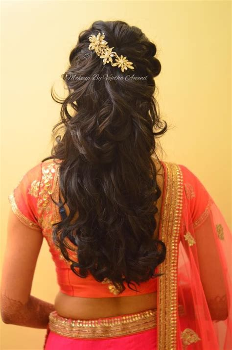 hairstyles indian wedding reception 95 indian bridal hairstyles for long hair for reception