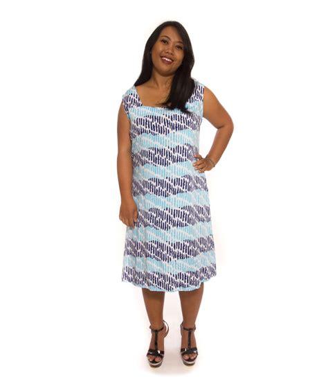 Dress Big Size Xl Biru bluish dress plain big size fashion