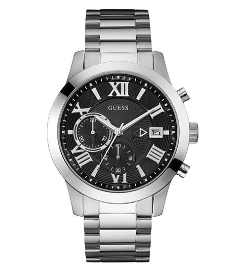 Guess W0810l1 Bracelet Silver Stainless Steel New guess stainless steel chronograph bracelet dillards