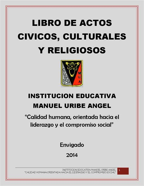 libro de actos civicos religiosos y culturales by victoria eugenia garcia gomez issuu
