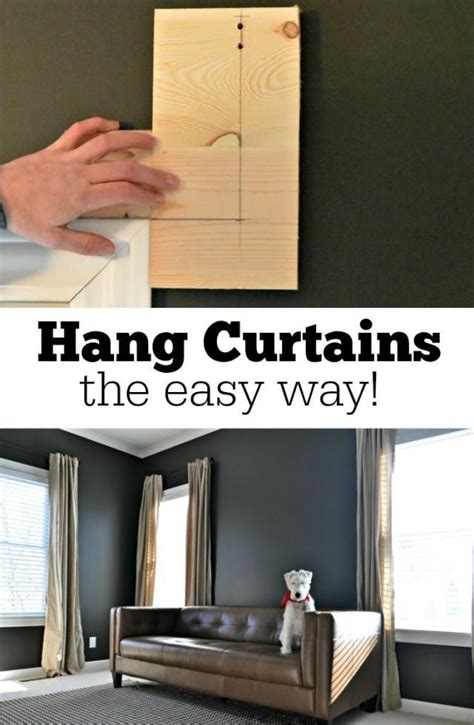 easiest way to hang curtains diy how to hang curtains the easy way 2151542 weddbook
