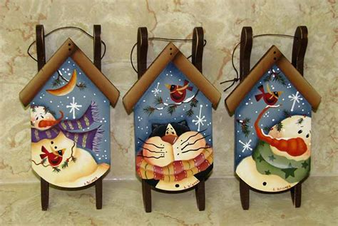 christmas hand painted ornaments lee wismer decorative