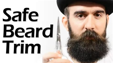 how to put in beard how to safely trim a beard