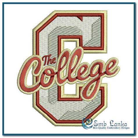 college of charleston colors college of charleston cougars logo 2 embroidery design