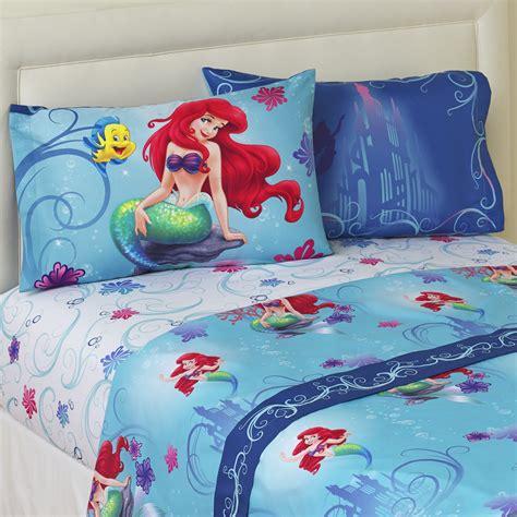 Disney The Little Mermaid 4 Piece Bedsheet Set Ariel Mermaid Bed Set