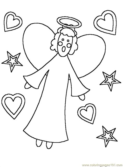 coloring page mary angel gabriel coloring pages