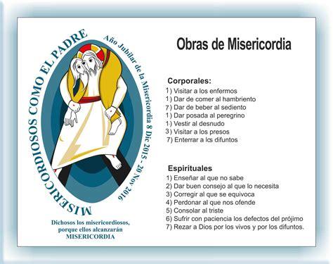 imagenes obras de misericordia espirituales religi 243 n cuaderno de bit 225 cora las obras de misericordia