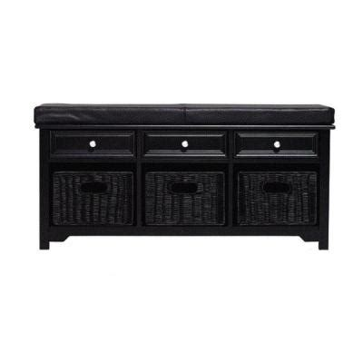 black bench with baskets home decorators collection oxford 42 in w storage bench