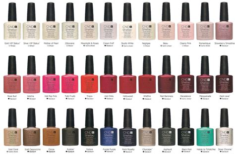 shellac colors chart cnd shellac uv gel any 6 colors ebay