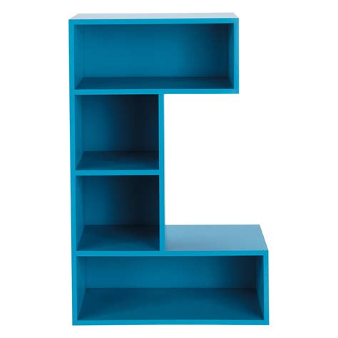 wooden bookcase in blue w 70cm c maisons du monde