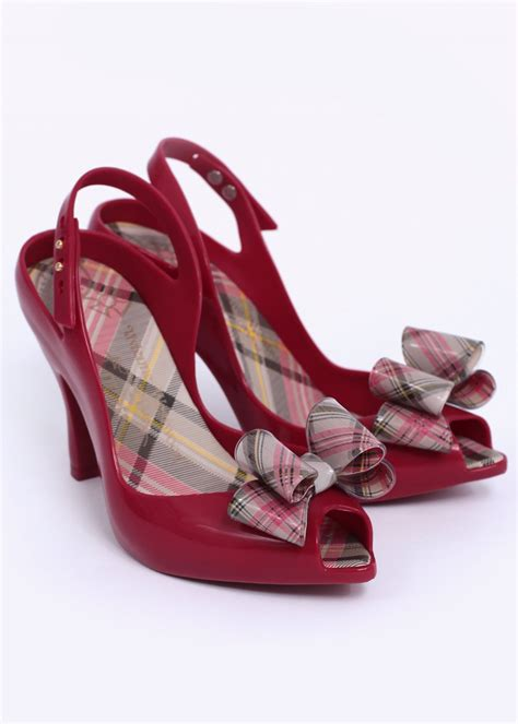vivienne westwood 12 tartan bow shoes aw14
