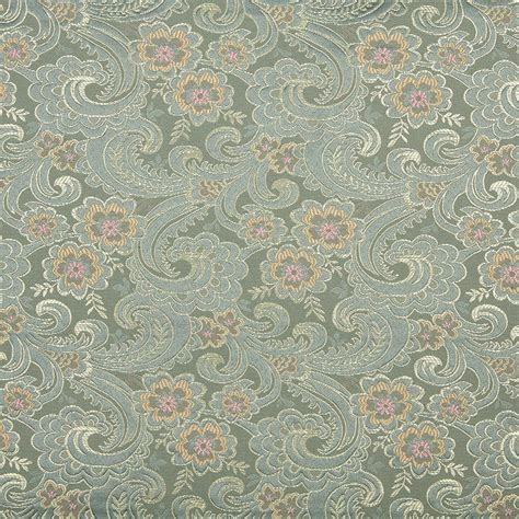 Automotive Upholstery Cleaner 54 Quot Quot Wide D122 Gold Pink And Blue Paisley Floral Brocade