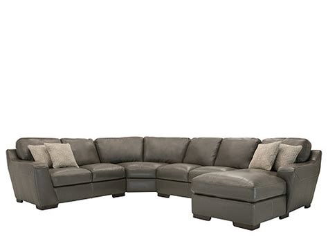 carpenter 4 pc leather sectional sofa sectional sofas