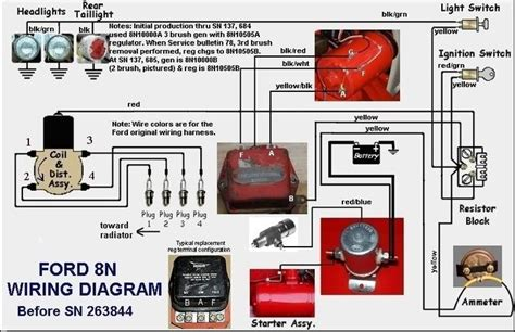 9n 2n wiring diagram yesterday s tractors
