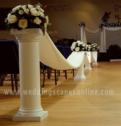 Column Decoration Ideas by Columns For Wedding Aisle Decorations