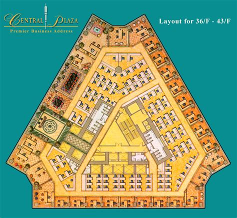 The Office Floor Plan central plaza