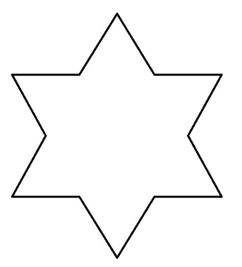star shape template clipart best