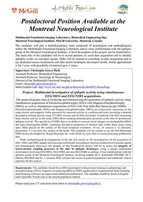 Letter Of Agreement For Postdoctoral Education Mcgill 100 Postdoc Application Cover Letter Essay Custom
