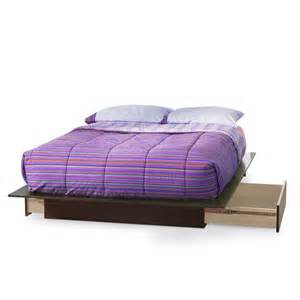 Platform Bed With Drawers South Shore Step One Platform Bed With 2