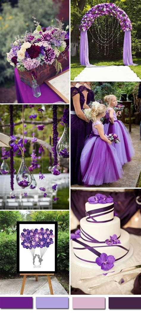 2016 wedding color ideas gorgeous purple wedding color palettes wedding wedding purple