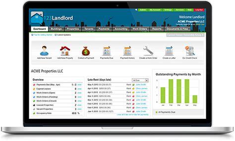 best property management software property management software 123landlord