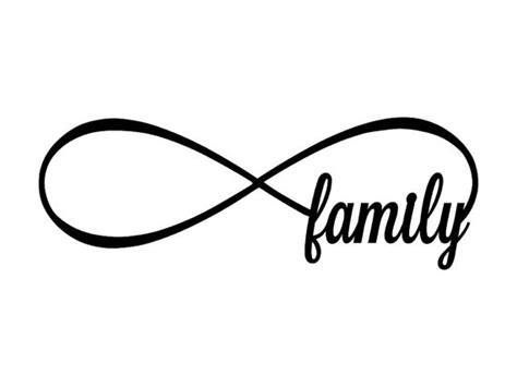 infinity items items similar to family infinity metal sign family
