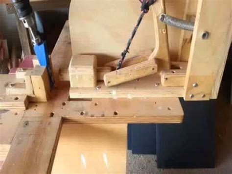 woodworking homemade kreg jig pocket hole jig  youtube