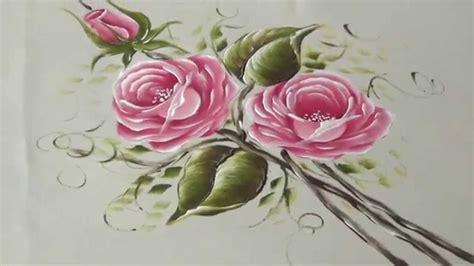imagenes de uñas pintadas rosa como pintar rosas rosadas en tela 2 2 youtube