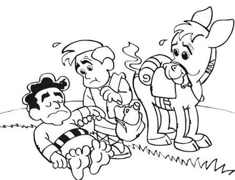 good samaritan coloring page for preschoolers coloring pages coloring and cartoon on pinterest